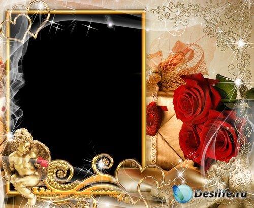 Рамка для фото – Романтический амурчик