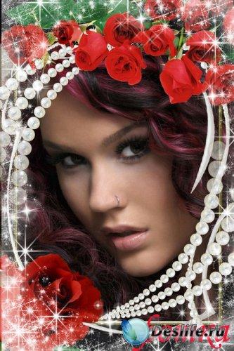 Рамка для фото - Красные розы
