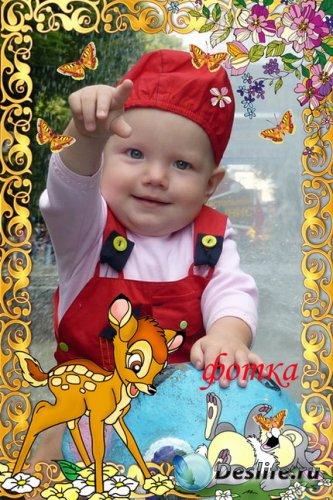 Детская рамочка для фото - Бэмби