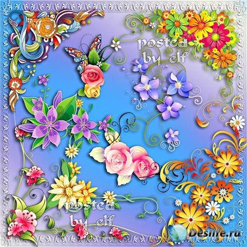 Клипарт – Цветочные уголки