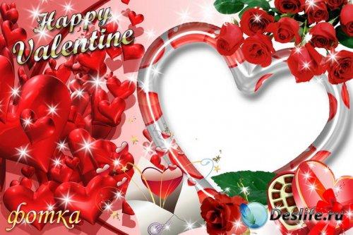 Романтическая фоторамочка с розами