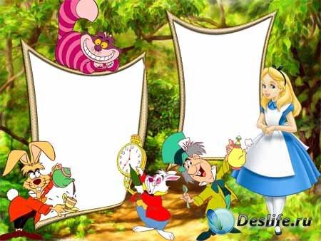 Рамка для фото - Алиса в стране чудес