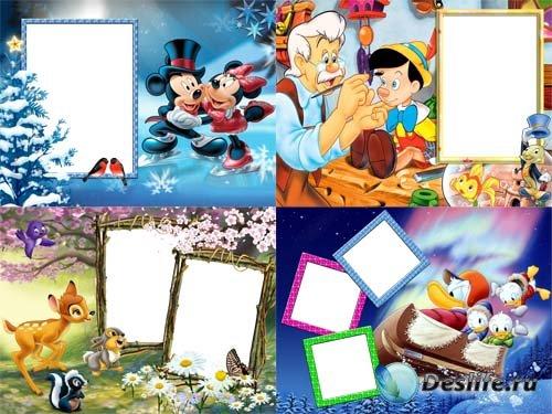 Набор детских рамочек для фото - Любимые мультяшки