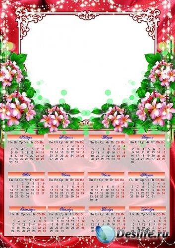 Весенний календарь рамка 2012