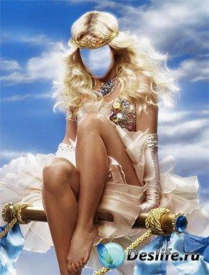 Костюм для фотошоп - Божественная блондинка