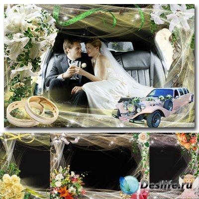 Рамочки для оформления свадебных фото