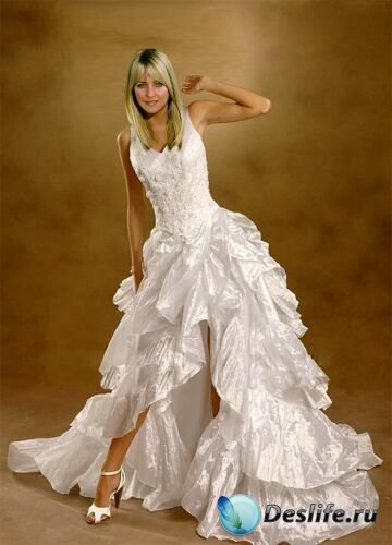 Костюм для фотомонтажа - Белое платье