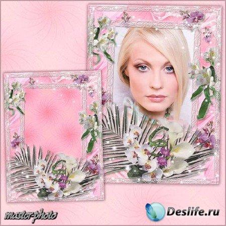 Романтическая рамка для фотошопа - Магия орхидеи