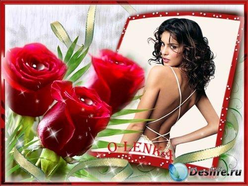 Фоторамка - Королевские розы