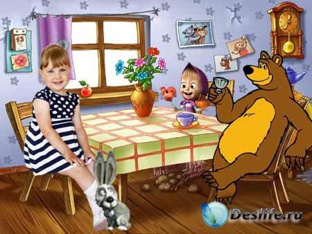 Детский фотокостюм - В гостях у Маши и Медведя