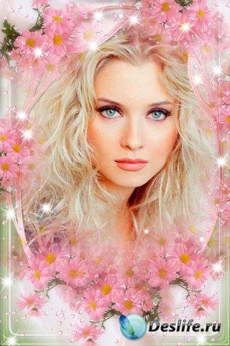 Рамка для фото - Розовые мечты весной
