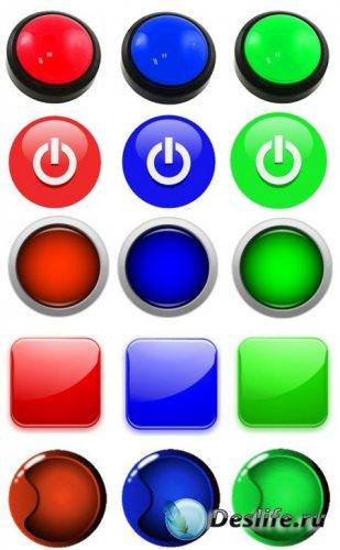 Веб элементы psd кнопки для сайта