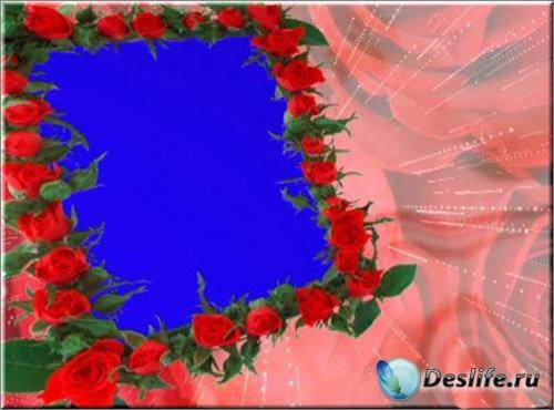 Футаж рамка - Розы