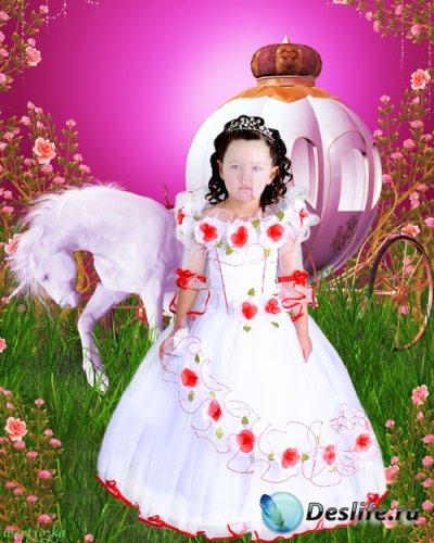 Детский костюм для девочки - Принцесса у сказочной кареты