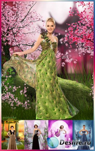 Многослойный женский psd костюм - Коллекция элегантных и роскошных вечерних ...