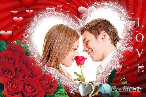 Рамка для фотошоп на день влюбленных – Сердце