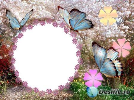 Рамка для фото - Цветущий сад