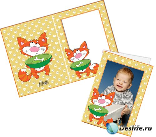 Рамочка-открытка Котик