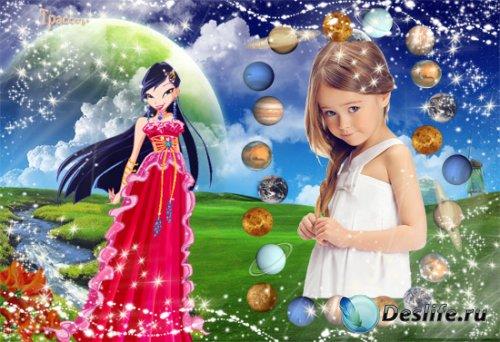 Рамочка детская - Винкс, Муза, девочка со звезды страна