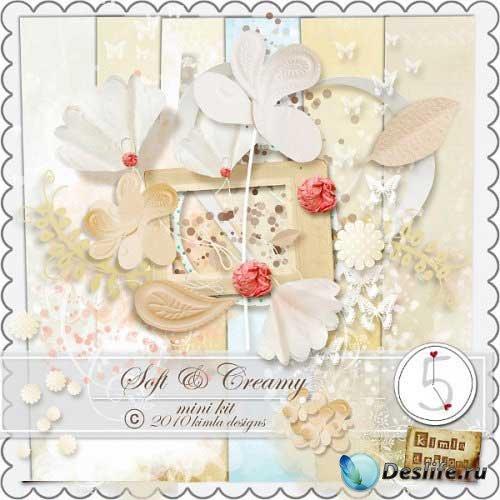 Красивый нежный мини скрап - Soft and Creamy