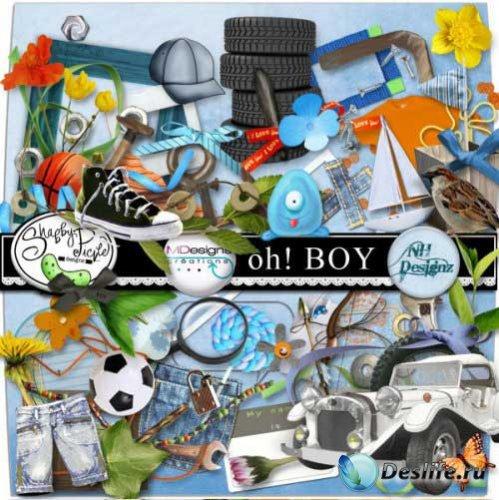 Скрап-набор для мальчиков - Ох! Мальчишка. Scrap - Oh! Boy