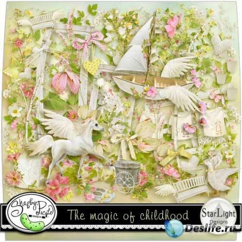 Красивый нежный скрап - Волшебство Детства. Scrap - The Magic Of Childhood