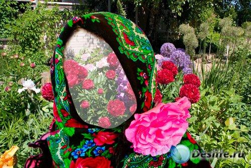 Шаблон детский - Машенька в цветах