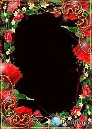 Рамка для фото –  Роза красная моя