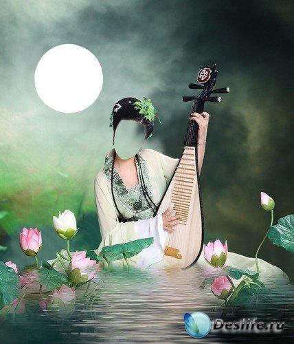 Костюм для монтажа в Photoshop - Китайская девушка