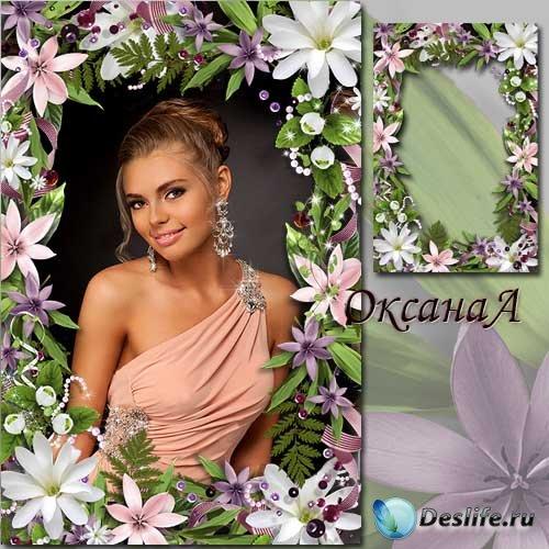 Рамка для фотошоп - Цветочный рай