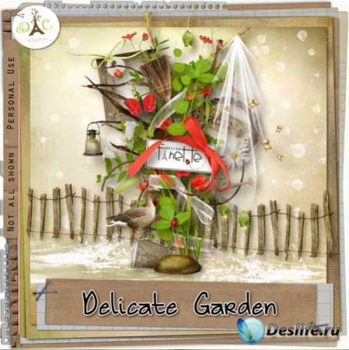 Цветочный скрап-набор - Уютный сад. Scrap - Delicate Garden