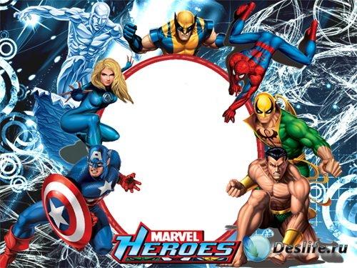 Рамка для монтажа в Photoshop - Супергерои