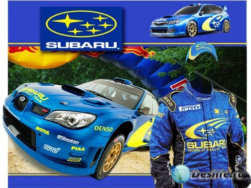 Костюм для Photoshop - Пилот Subaru
