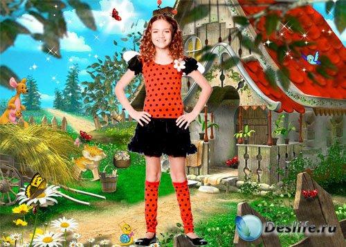 Детский костюм для Photoshop – Божья коровка