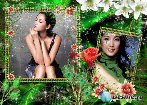 Рамка для Photoshop - Райский уголок