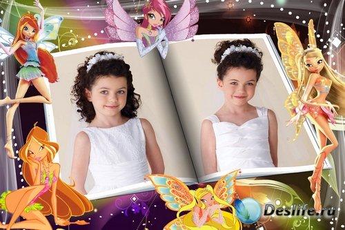 Яркие детские фоторамочки Winx