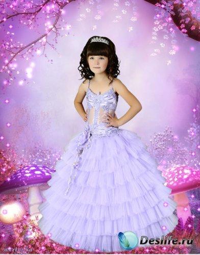 Детский psd костюм для девочки  - В сказочном лесу среди волшебных грибочко ...