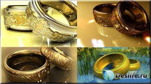 Анимационные свадебные футажи – Обручальные кольца в 3D