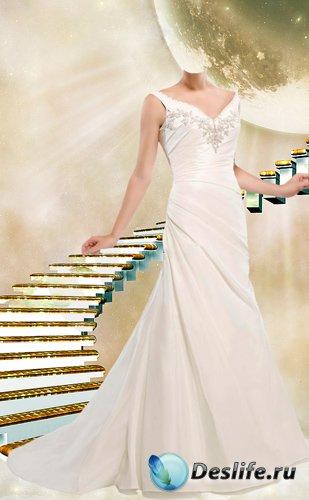 Костюм для фотошопа - В свадебном белом платье