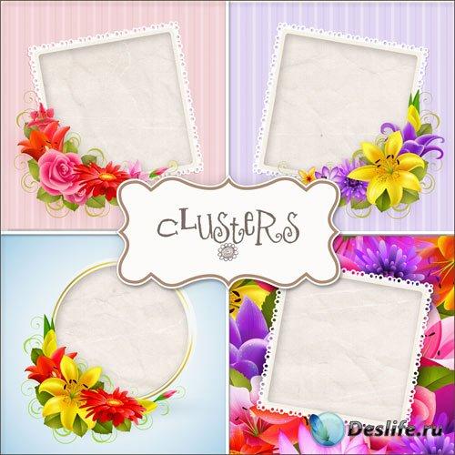 Нежные цветочные рамки