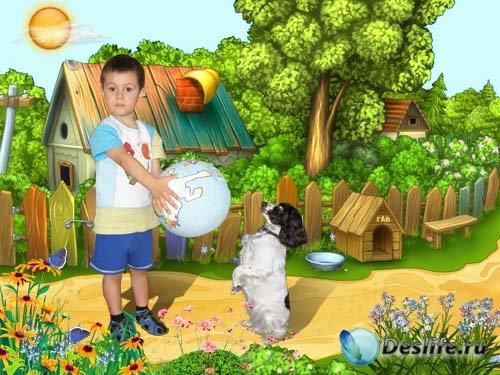 Костюм для фотошопа - Дрессировщик собак