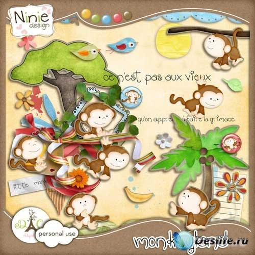Скрап-набор - Земля обезьян. Scrap - Monkeyland