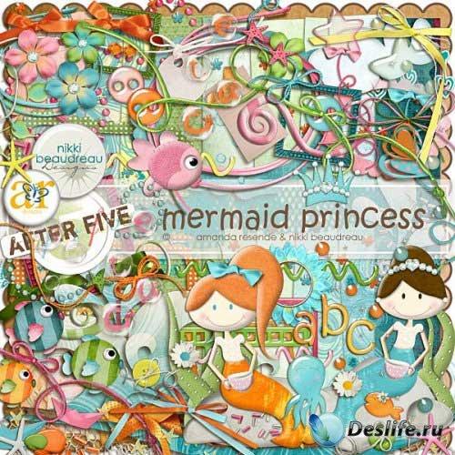 Яркий морской скрап - Русалки принцессы. Scrap - Mermaid Princess