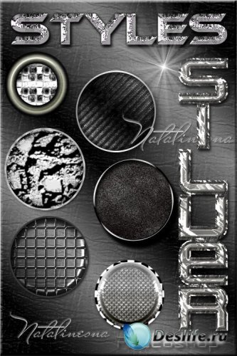 Серебряные  стили для Photoshop / Silver styles for Photoshop
