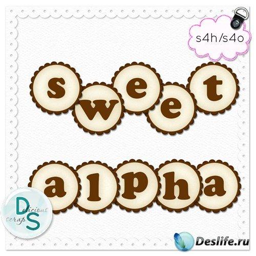 Алфавит - Печенье с шоколадом