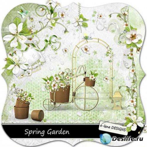 Весенний цветочный скрап - Весенний сад. Scrap - Spring garden
