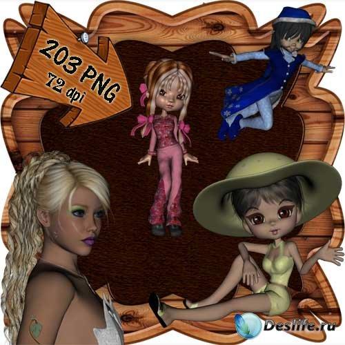 Скрап-набор - Мир фей и волшебства 8. Scrap - World of fairies and magics 8