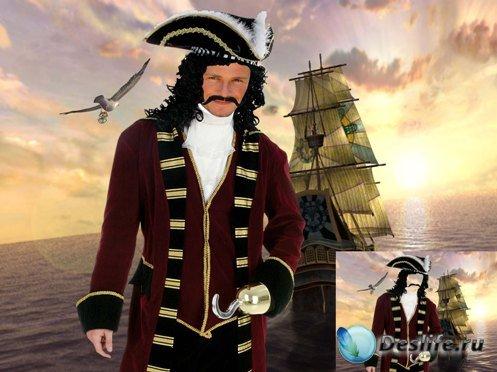 Мужской костюм - Пират капитан Хук