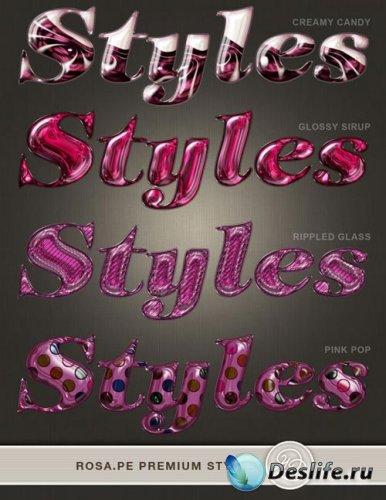 Гламурные розовые стили