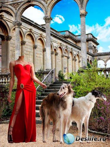 Костюм для фотошопа – Женщина с собаками